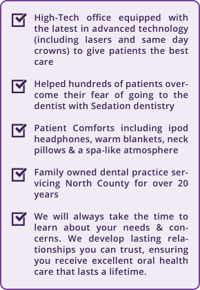 What differentiates Oceanside Dental Excellence from other Oceanside dentists.